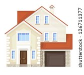 single family house   vector... | Shutterstock .eps vector #126711377