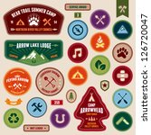 set of scout badges and merit... | Shutterstock .eps vector #126720047