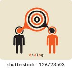 dialogue contact ... | Shutterstock .eps vector #126723503