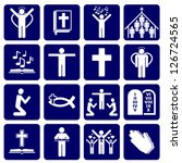 vector icons of religious - stock vector