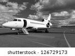 white reactive private jet  the ...   Shutterstock . vector #126729173