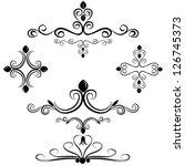 calligraphic elements set | Shutterstock .eps vector #126745373