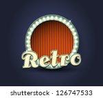 illustration of retro  1950s... | Shutterstock .eps vector #126747533