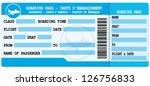 boarding pass. blue flight...   Shutterstock .eps vector #126756833