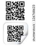 qr code vector | Shutterstock .eps vector #126768623