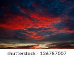 Red Colors Of Sunset