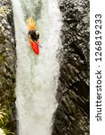 Courageous Kayaker In A...
