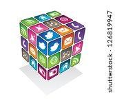 social media cube | Shutterstock .eps vector #126819947