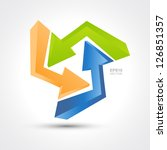 three colored arrows | Shutterstock .eps vector #126851357