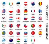 national flag ball of oecd ... | Shutterstock . vector #126857423