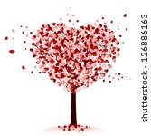 Love Tree On White Background ...