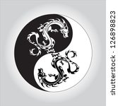 Black And White Dragon In Yin...