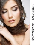 woman beauty portrait. isolated ... | Shutterstock . vector #126908033