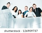 group of business people at... | Shutterstock . vector #126909737