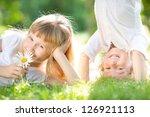 happy children with flower... | Shutterstock . vector #126921113