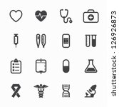 medical icons with white...