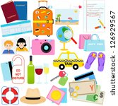 vector of traveling icon  ... | Shutterstock .eps vector #126929567