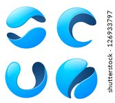 Business Abstract Sphere logo templates. High quality Vector icon.Technology sci-fi theme.