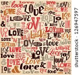 typographic valentines day... | Shutterstock .eps vector #126947597