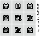 Calendar icons - stock vector