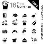basic   food icons | Shutterstock .eps vector #126960827