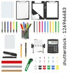 stationery set icons vector... | Shutterstock .eps vector #126966683