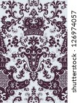 baroque pattern | Shutterstock .eps vector #126974057