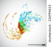 Splash Background. Eps10 Vector