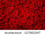 Stock photo natural red roses background 127002347