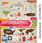 set of infographics for design... | Shutterstock .eps vector #127028873