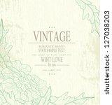 congratulation vintage vector ... | Shutterstock .eps vector #127038203
