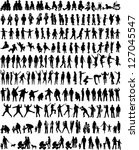 people mix silhouettes  vector... | Shutterstock .eps vector #127045547