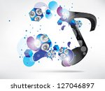 abstract music background with... | Shutterstock .eps vector #127046897