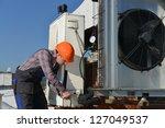 air conditioning repair ... | Shutterstock . vector #127049537