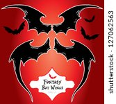hand drawn vector demon or bat... | Shutterstock .eps vector #127062563