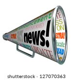 the word news on a megaphone or ... | Shutterstock . vector #127070363