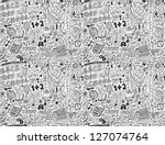 seamless school pattern - stock vector
