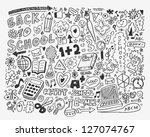 hand draw school element,cartoon vector illustration - stock vector