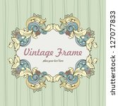 vector vintage baroque frame.... | Shutterstock .eps vector #127077833