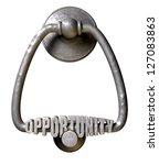 a metal door knocker with the... | Shutterstock . vector #127083863