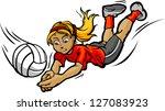 vector image of female... | Shutterstock .eps vector #127083923