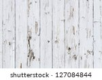 Old white weathered wooden background no. 1 - stock photo