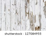 Old white weathered wooden background no. 6 - stock photo