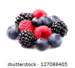 Fresh mix berry - stock photo