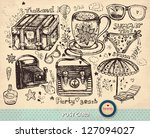 vector hand drawn illustration. ... | Shutterstock .eps vector #127094027