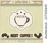 vintage label coffee shop | Shutterstock .eps vector #127102643