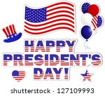 president's day stickers with a ... | Shutterstock .eps vector #127109993