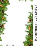 christmas background with balls ... | Shutterstock . vector #127124927