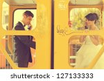 romantic bridal couple | Shutterstock . vector #127133333