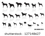 Stock vector dog breed icons 127148627